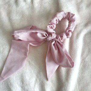 Urban Outfitters Plaid Pink Scrunchie Hair Ribbon